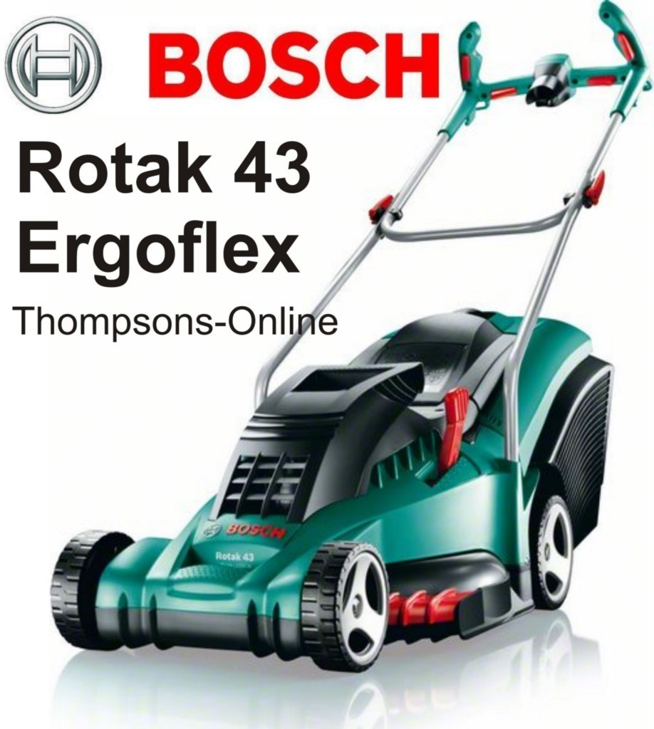 Bosch Rotak 43 Ergo Flex Electric Rotary Wheeled Lawn mower